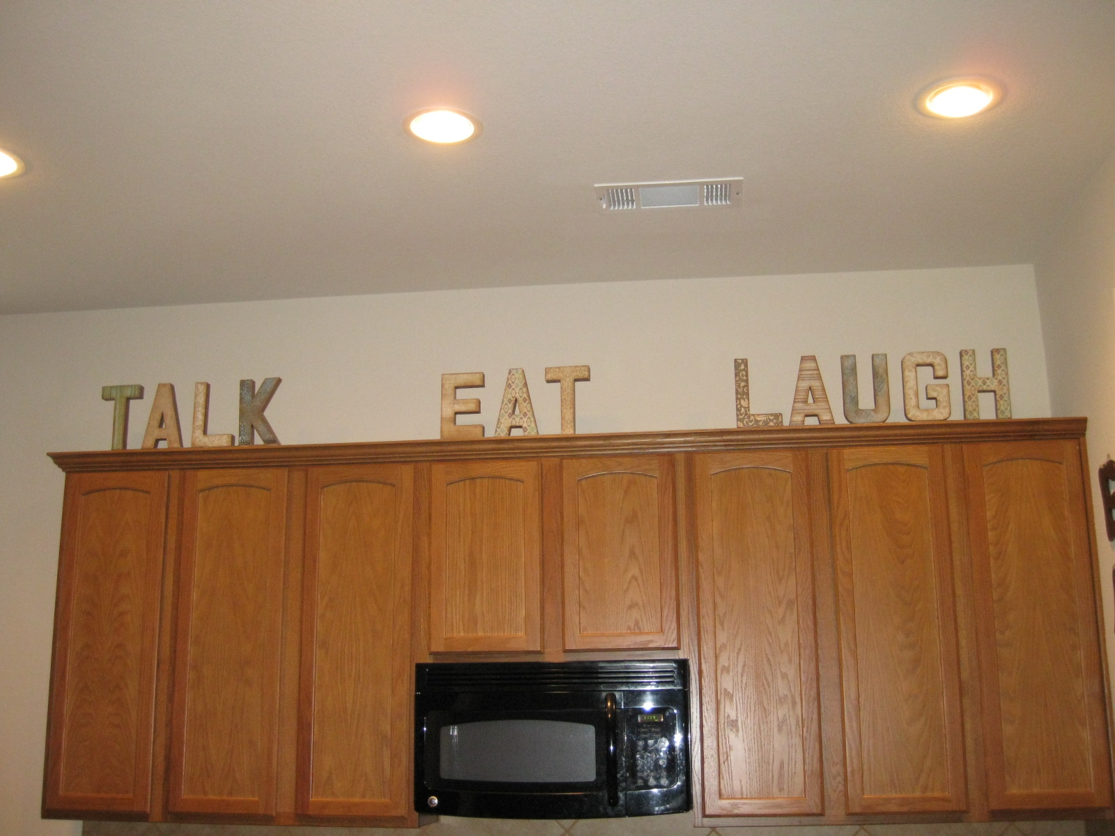 Life Crafts Whatever Talk Eat And Laugh My Kitchen Letters