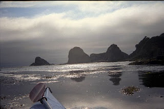 Mendocino coast from a sea kayak