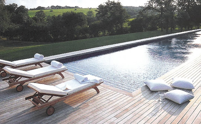 Ct Sud - pool, wood deck, countryside view edited by lb for  linenandlavender.net, here:  http://www.linenandlavender.net/2009/08/and-livin-is-easy.html