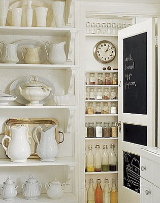 Country Living Magazine, pantry and kitchen shelving, edited by lb for linenandlavender.net