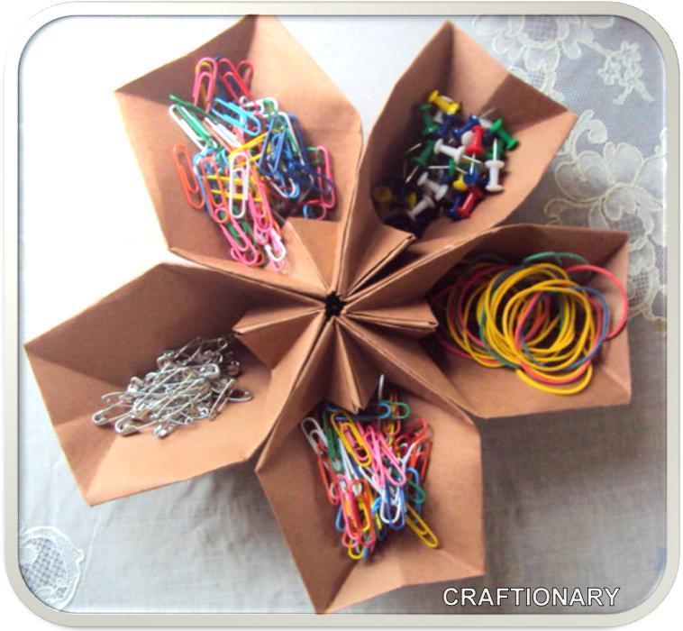 Guest project four last minute valentine ideas - Origami desk organizer ...