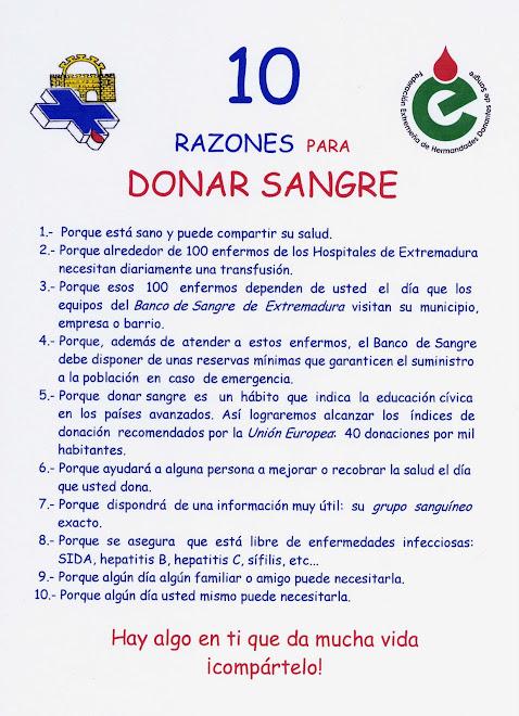 10 RAZONES PARA DONAR SANGRE