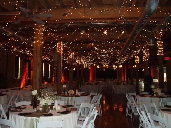 Chandeliers AND paper lanterns wedding Winter Wedding Decor Twinkle