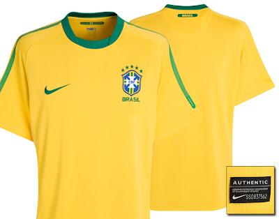 Brazil Home Shirt 2010/12