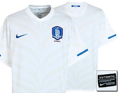 Korea Away Shirt 2010/12