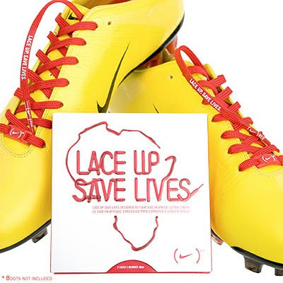 Nike RED Laces, Lace Up Save Lives