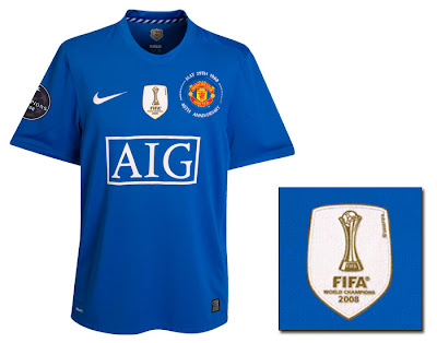 Manchester United UEFA Champions League Third Shirt 2008/09 with World Champions Badge