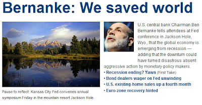 Bernanke: We save world