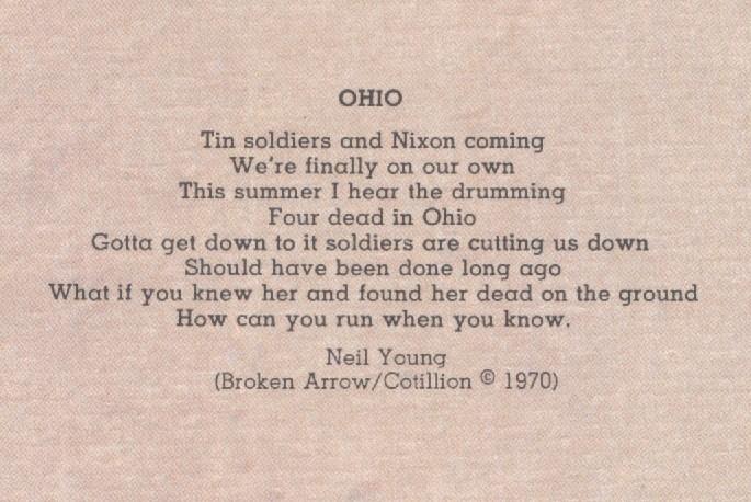 Neil Young – Ohio Lyrics | Genius Lyrics