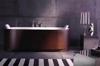 Yuma Art Tub 180, Modern Wood Bathroom Designs from BluBleu