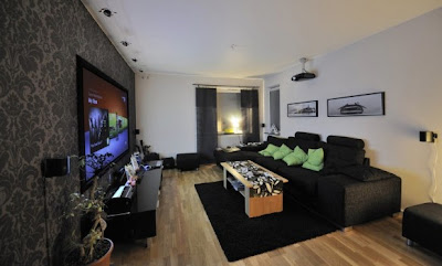Home Theater   Scandinavian Living Room Interior Decoration Design