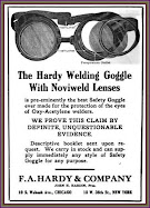 1920 Welding Goggles Ad