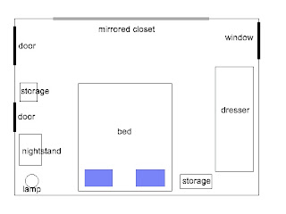 Bedroom layout diagram