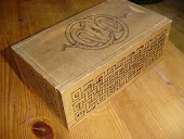 An old box I burned a celtic pattern on