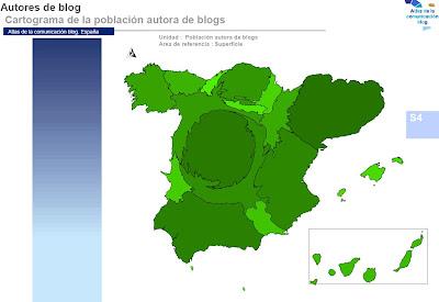 Cartograma de bloggers