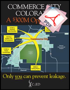 Commerce City Economic Leakage Marketing Piece presented in Las Vegas at ICSC. Click PDF Below