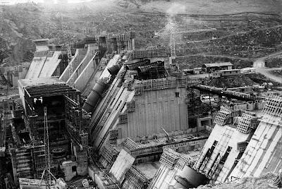 Roxburgh Dam, 1955.