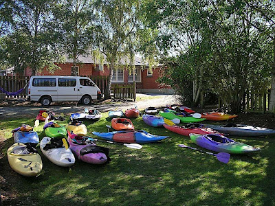 Kayaks, Beaumont Camping Ground