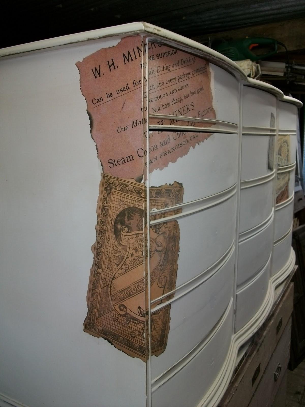 Alte möbel weiß streichen: schrank mit kreidefarbe gestrichen ...