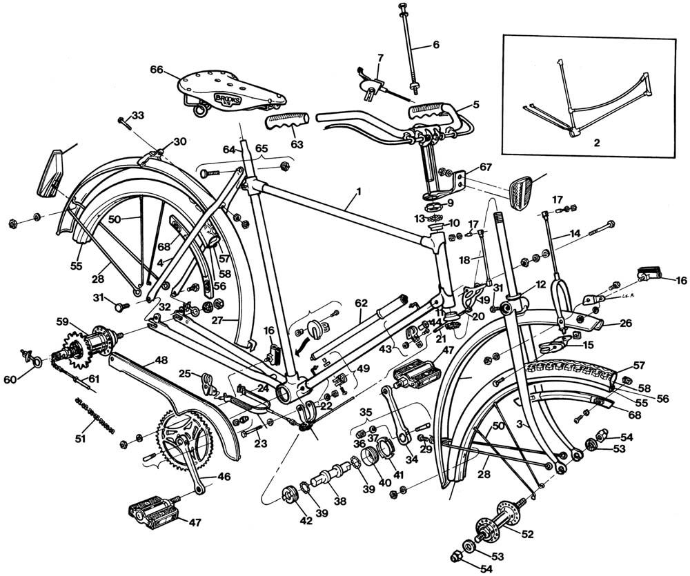 Raleigh Dl 1 Fan Blog 1977 Raleigh Tourist Parts List