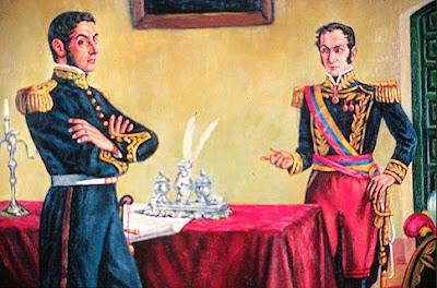 Revelan documento histórico sobre Bolivar y San Martin