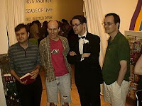 cartoonist seth and chester brown a the art gallery of ontario, 2005
