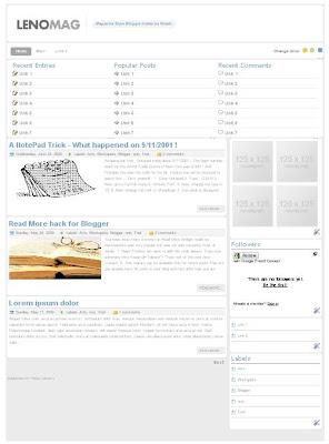 Lenomag Blogger Template