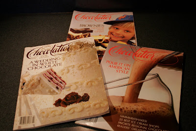 Chocolatier Magazine issues from 1985 and 1986