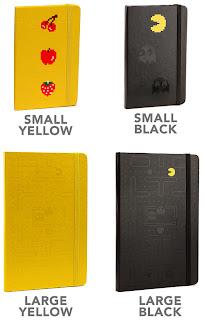 Pac Man Moleskin Notebooks
