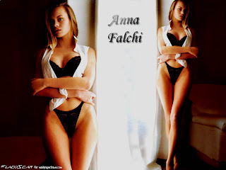 Finnish-born Italian model and film actress Anna Falchi