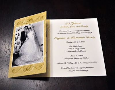 50th Wedding Anniversary Card on 50th Wedding Anniversary Invitations