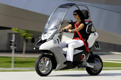 motor girl Concept BMW C1-E Enduro