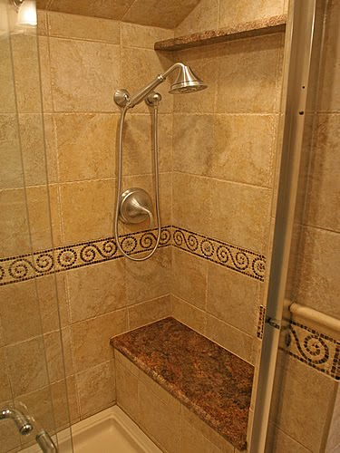 Beautiful  Bathroom Tile Designs Gallery With Towel Bathroom Tile Designs Gallery
