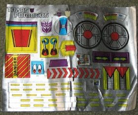 G1 Trypticon Sticker Decal Sheet