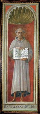 Jacopone da Todi, fresco by Paolo Uccello, Cathedral of Prato, now in Museo di Pittura Murale