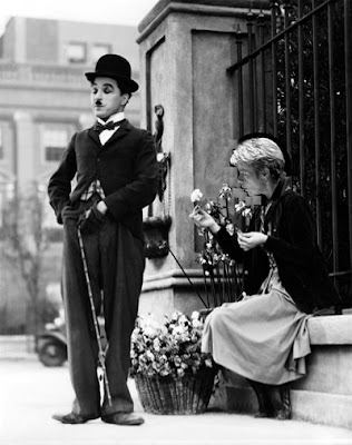 Charlie Chaplin and Marin Alsop in City Lights, image by Charles T. Downey (with apologies to Charlot)