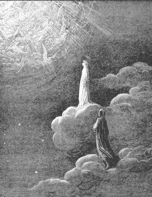 Beatrice and Dante in Paradiso, engraving by Gustave Dor