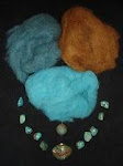 Wool  Fibers & Beads Kit