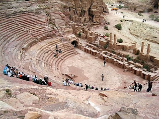 El anfiteatro en Petra