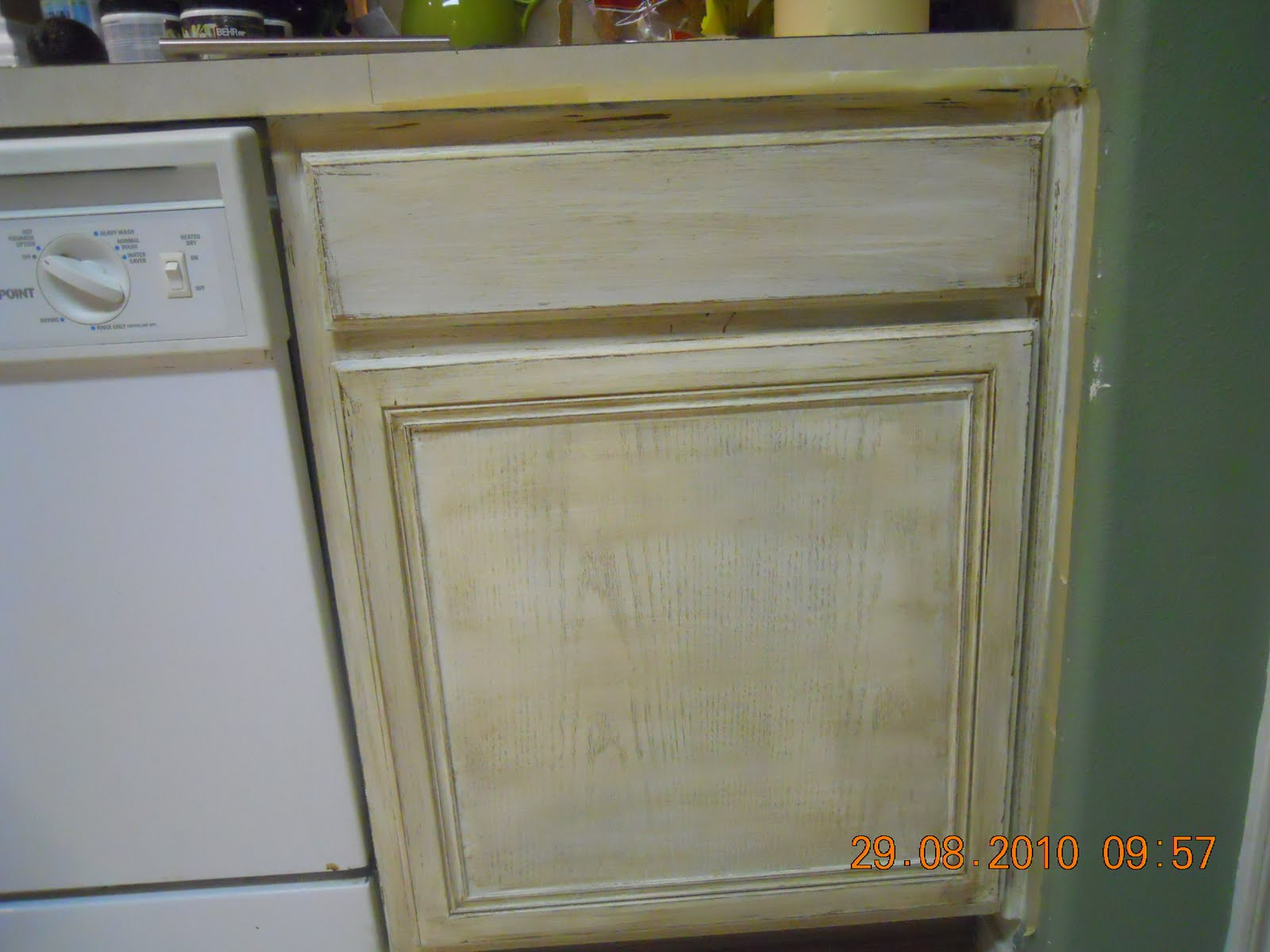 Distressed Kitchen Cabinets