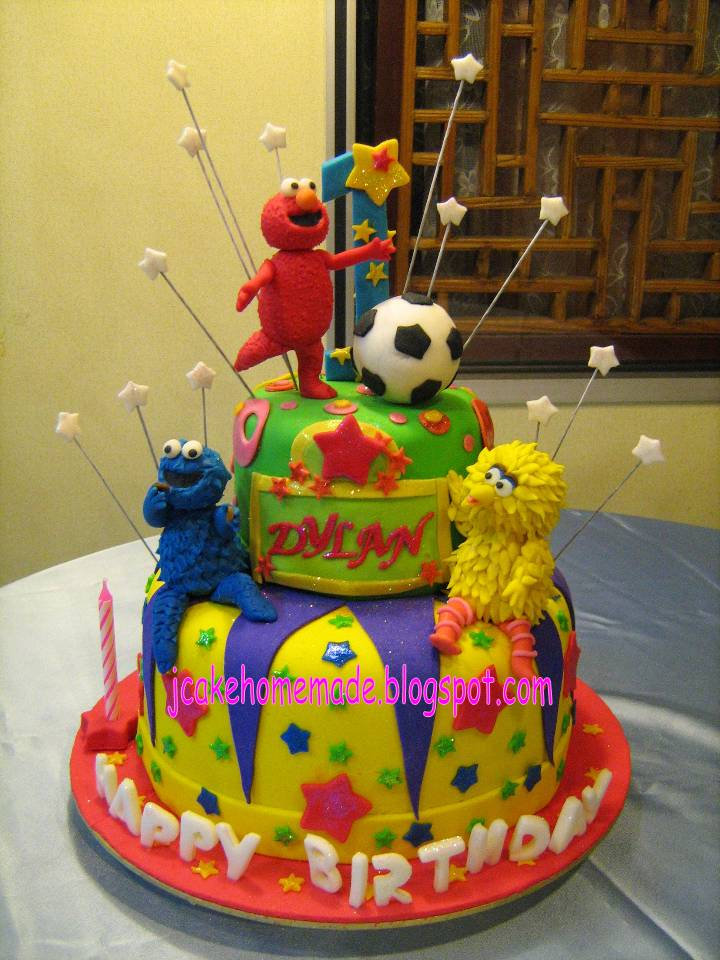 sesame street cupcakes. Sesame Street Theme cake