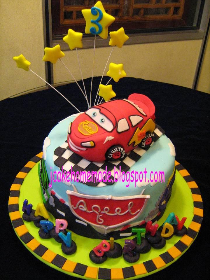 Lightning Mcqueen Birthday Cake Designs : Jcakehomemade: Lightning McQueen Theme Birthday Cake ??????