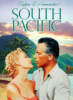 copy of the cover of the dvd for the movie, South Pacific