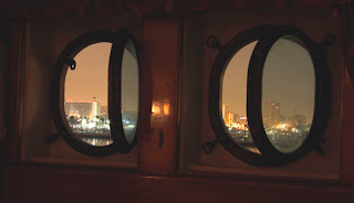 portholes in a First Class State Room, RMS Queen Mary