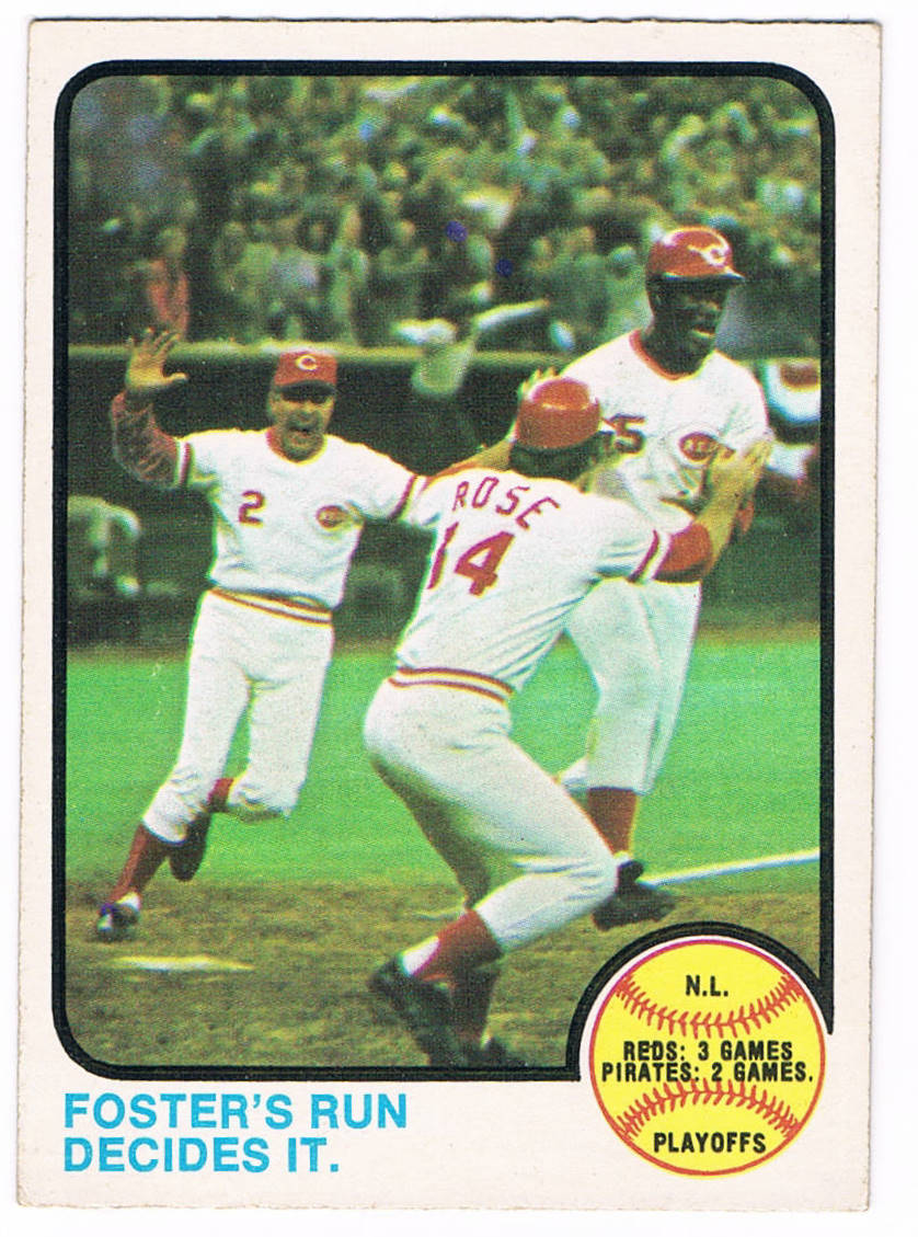 1973 Topps Photography How The Pennant Was Won