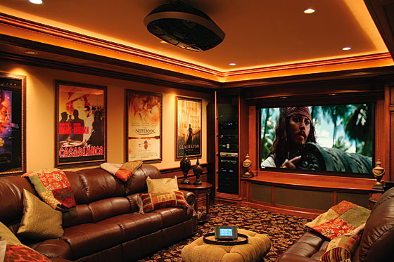 Love the framed movie posters theatre room ideas for Entertainment rooms ideas
