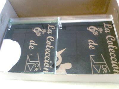 El interior de la caja
