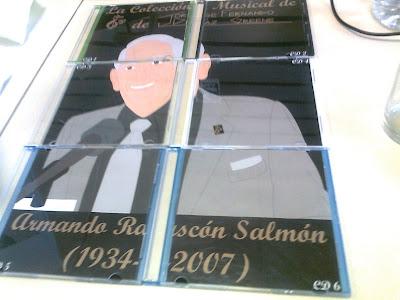 CD's 1 al 6 que forman el póster de Armando Rascón Salmón