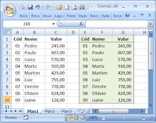 macros, vba, visual basic, excel, tabela