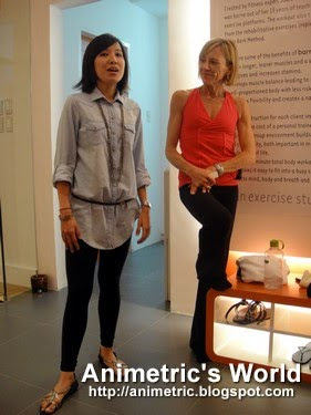 Tanya Tan and Darcy Harding at the Barre3 studio in The Spa Fort